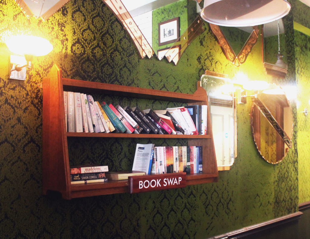 Truro Lounge Cafe book swap shelf