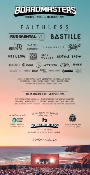 Boardmasters 2015 lineup