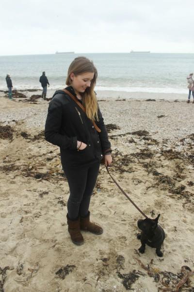 Pepper & I at the beach