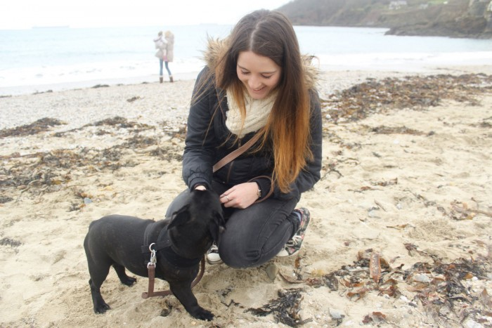Kelly & Pepper at the beach