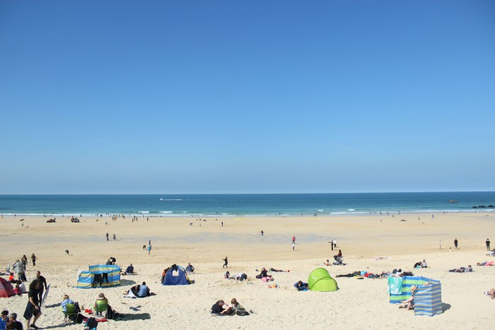 Porthmeor beach in St. Ives