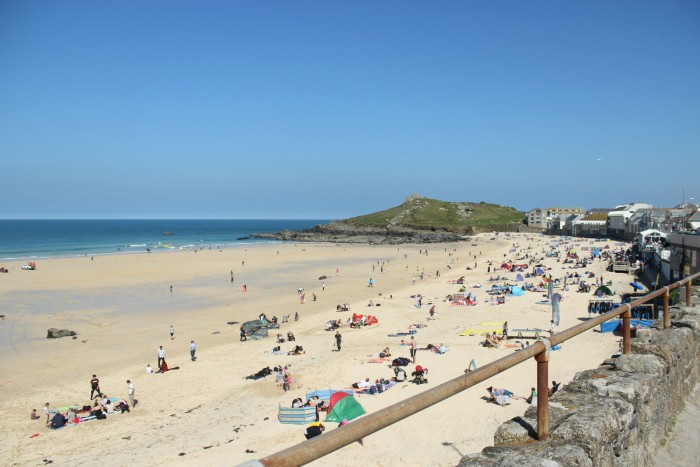 Porthmeor Beach (5 Best Beaches in Cornwall)