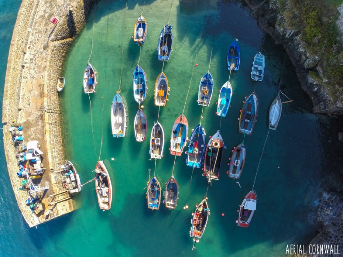 Coverack Harbour by Aerial Cornwall