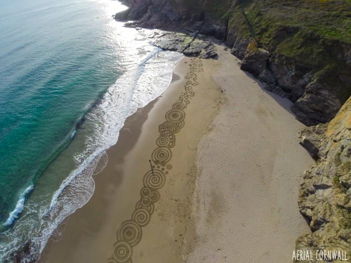 Beach Art by Aerial Cornwall