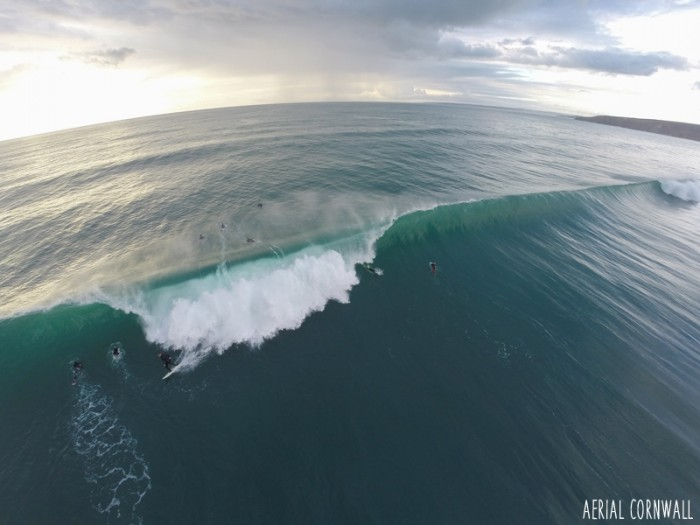 Porthleven Surf by Aerial Cornwall