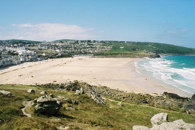Porthmeor beach in Cornwall