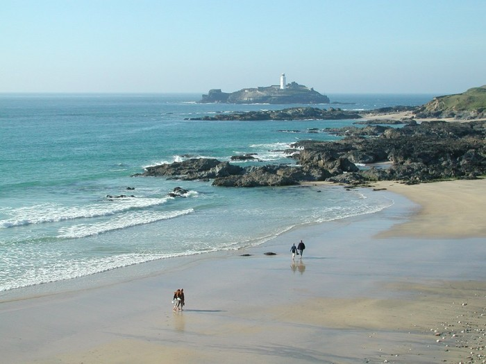 Godrevy Beach in Cornwall
