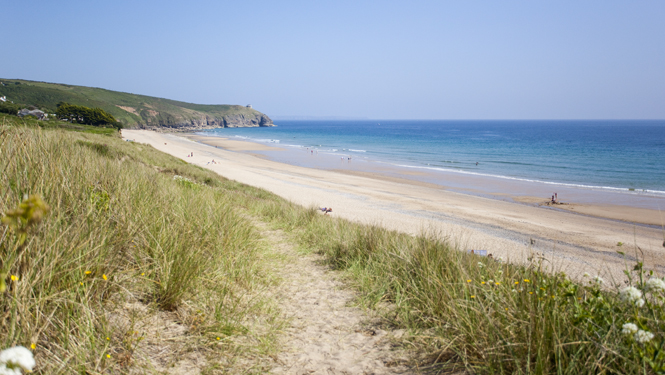 Praa sands in Cornwall