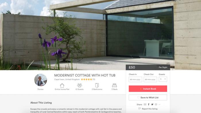 Modernist Cottage in Wales
