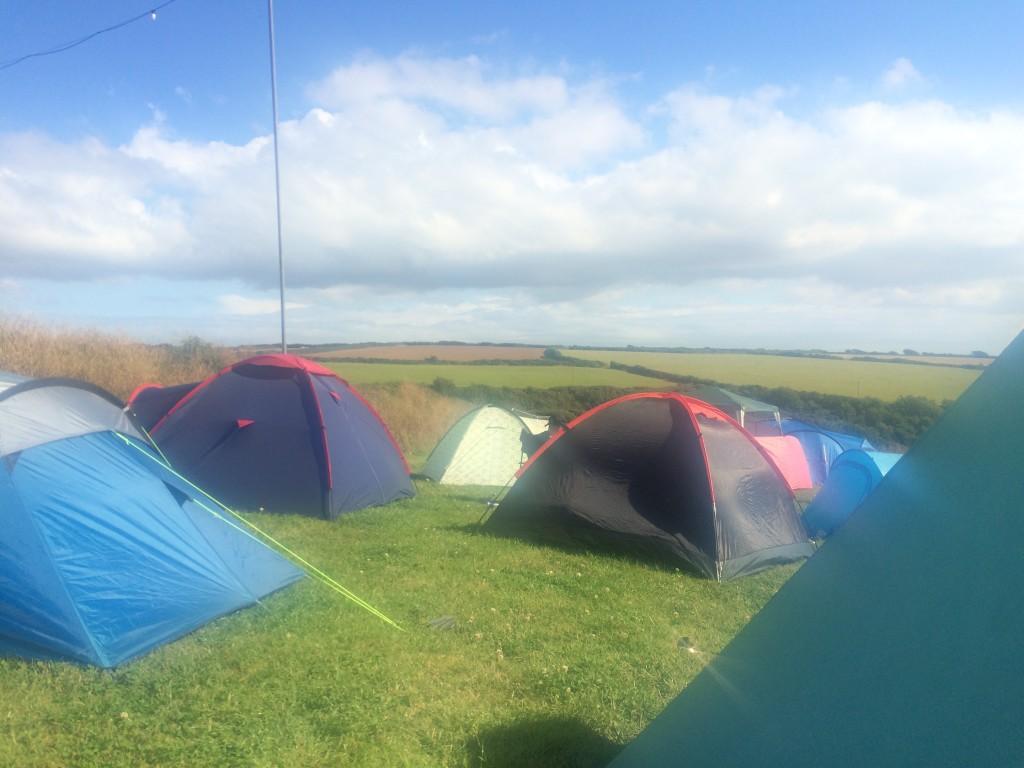 Camping at Boardmasters