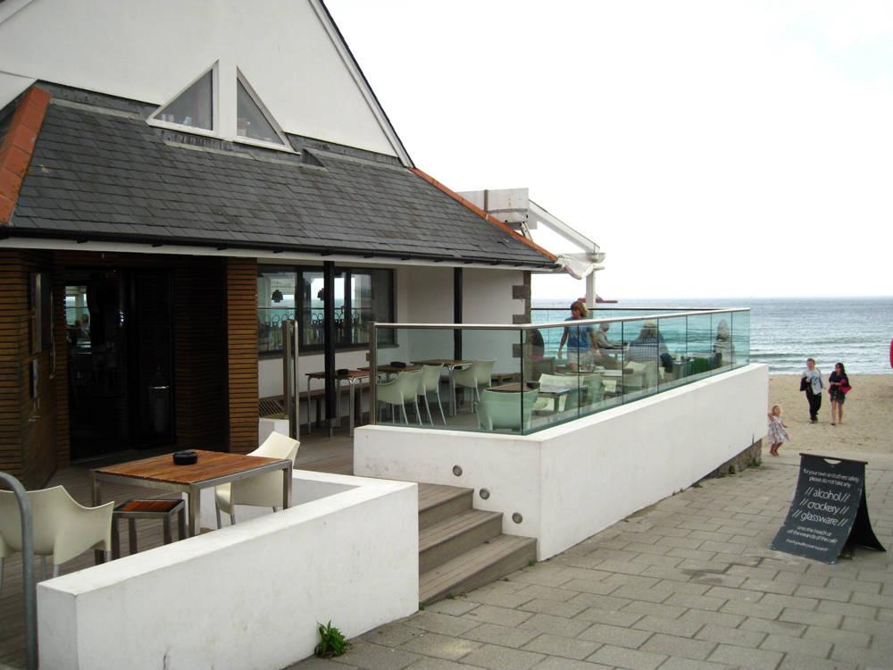 Gylly Beach Cafe in Winter