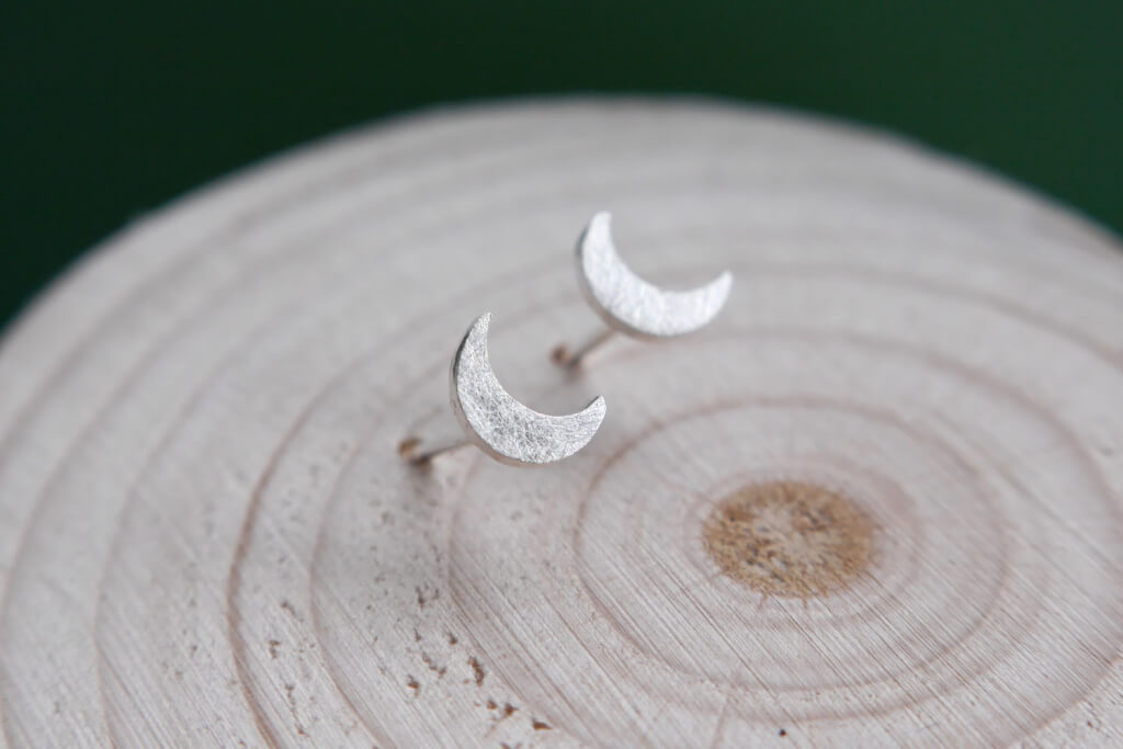 Silver Moon Earrings on Etsy
