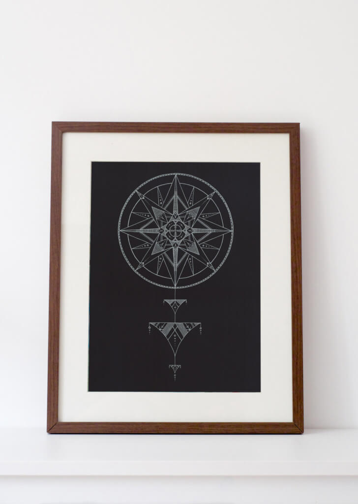 Wolf moon print on Etsy