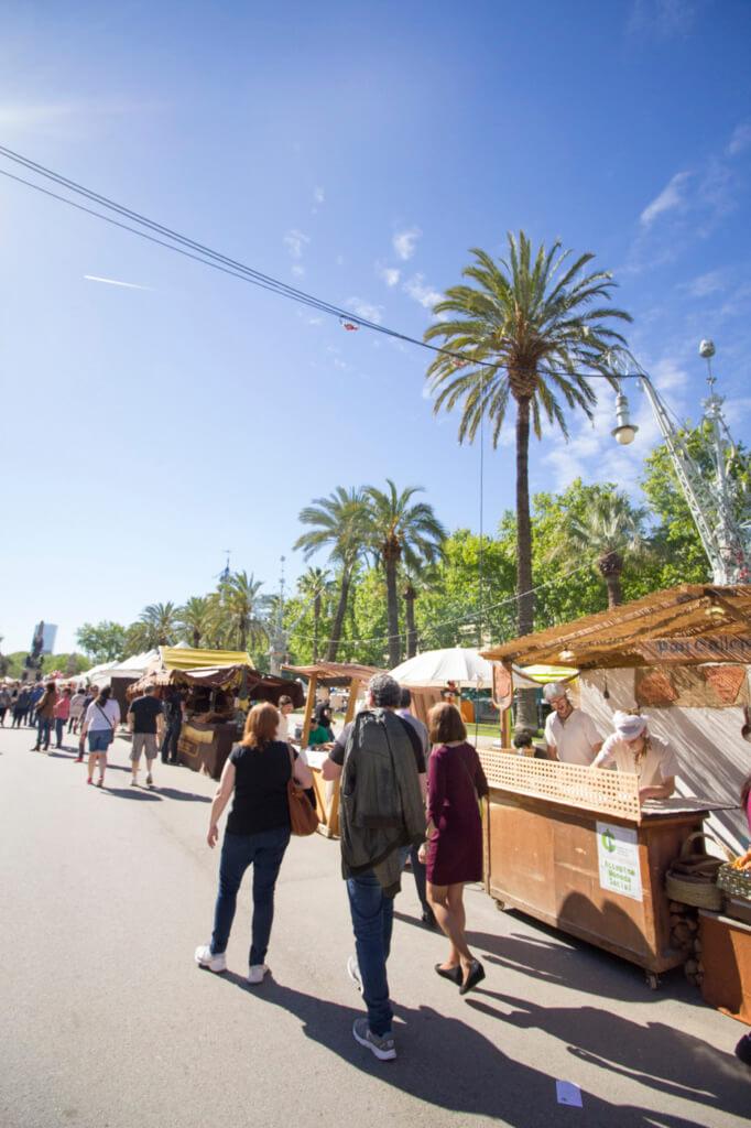 Markets in Barcelona in Spring