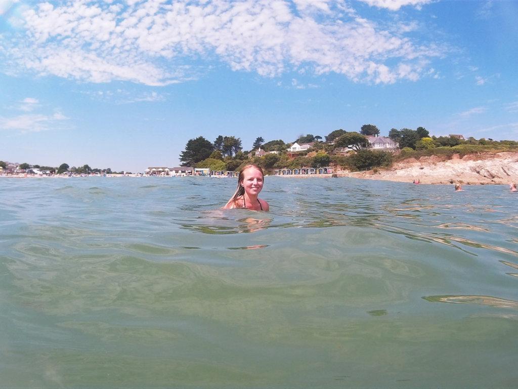 Sea swimming at Swanpool