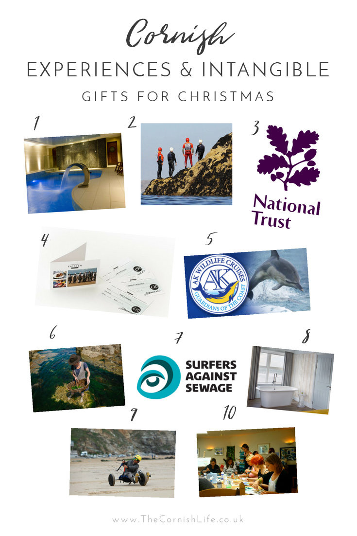 Cornish Experiences & Intangible Gifts for Christmas