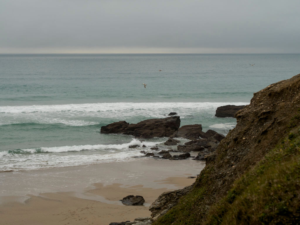 Porthtowan beach in Cornwall
