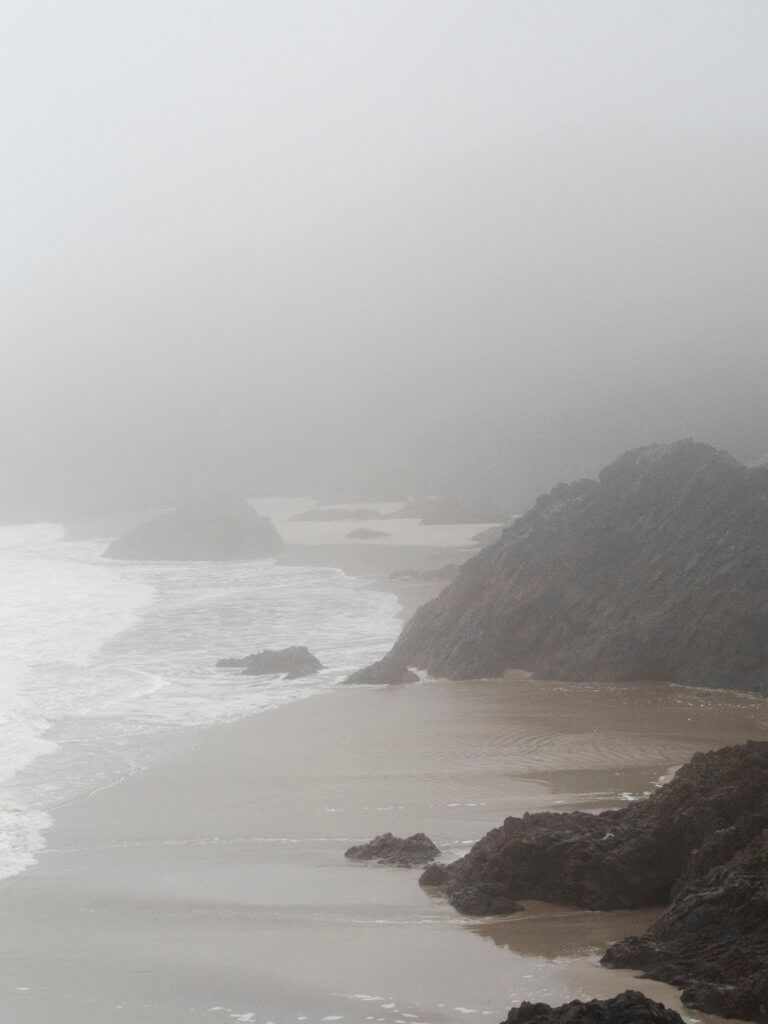 Kynance Cove in Fog