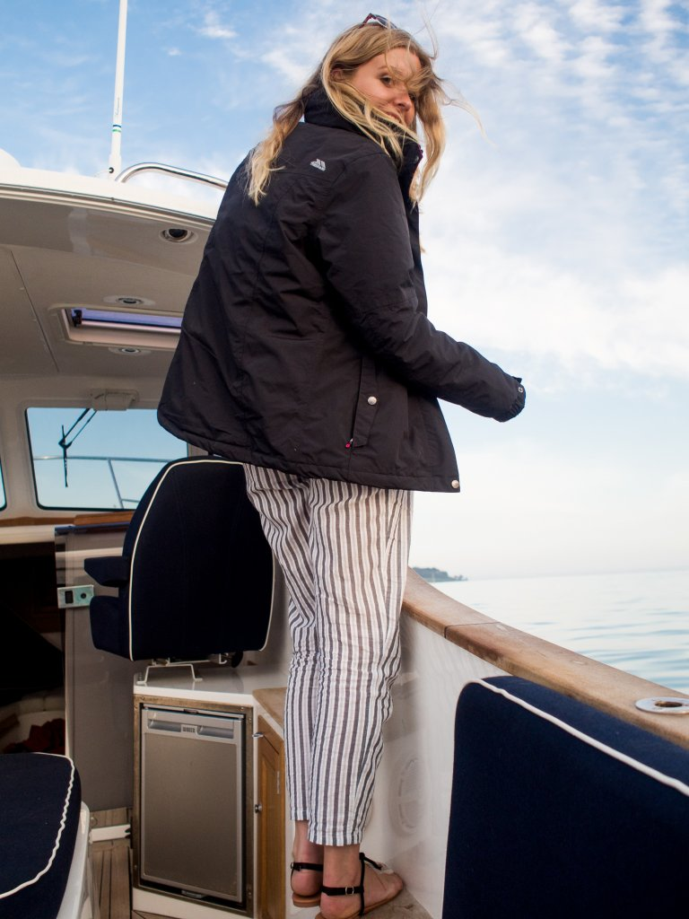 Trespass Jacket on the boat