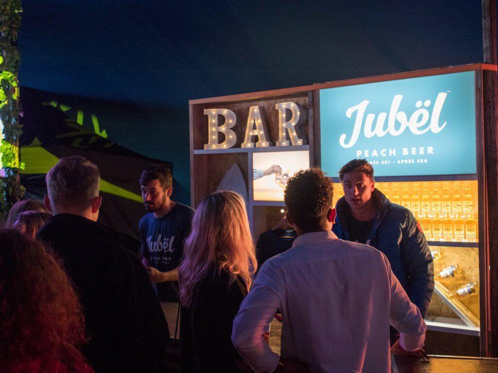 Jubel peach beer Cornwall
