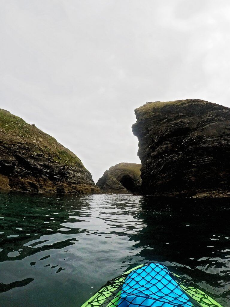 Kayaking on the North coast Cornwall
