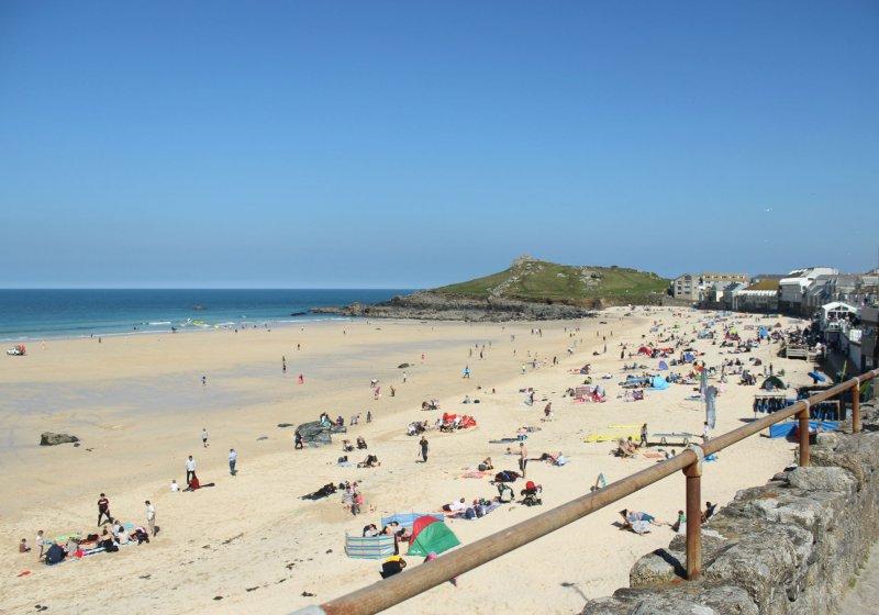 Porthmeor Beach (5 Best Beaches in Cornwall)