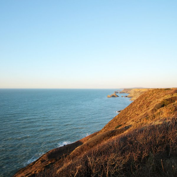 Sunset at Portreath Cliffs