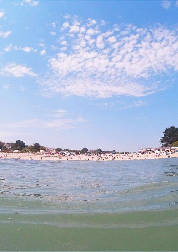 Sea Swimming at Swanpool Beach
