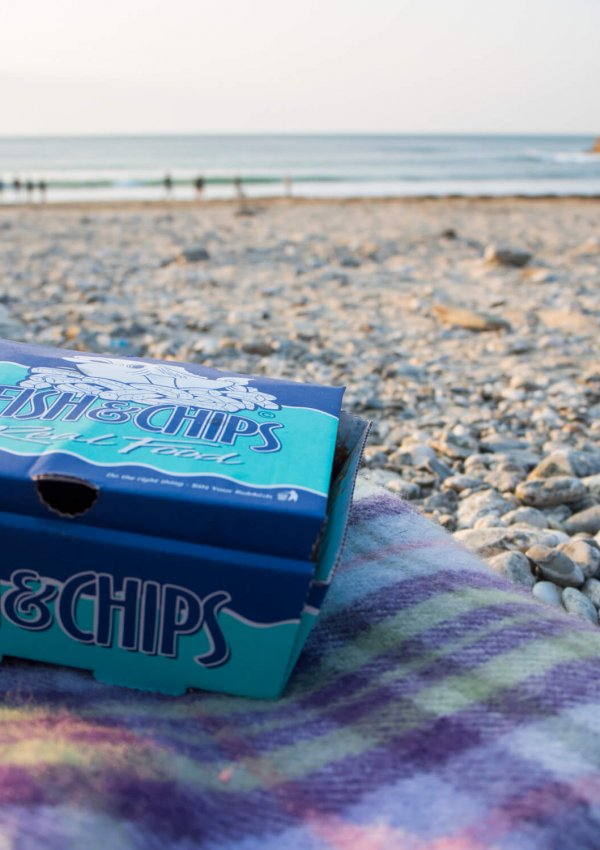 The Greatest Medicine is Fish & Chips on The Beach