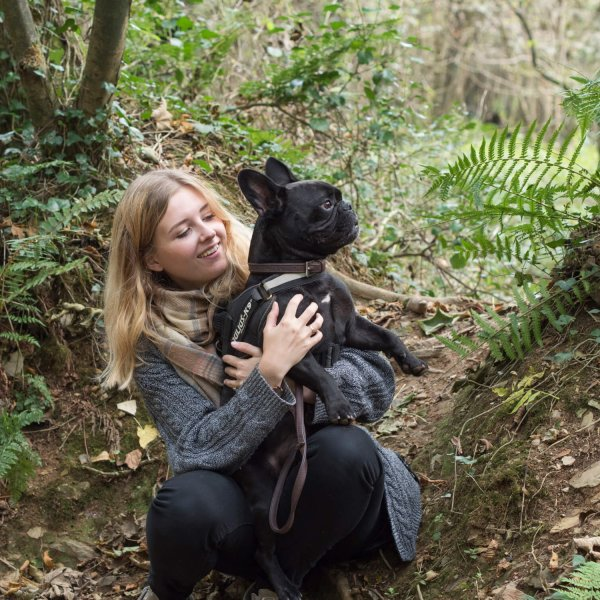 Tehidy woods with Pepper the French Bulldog
