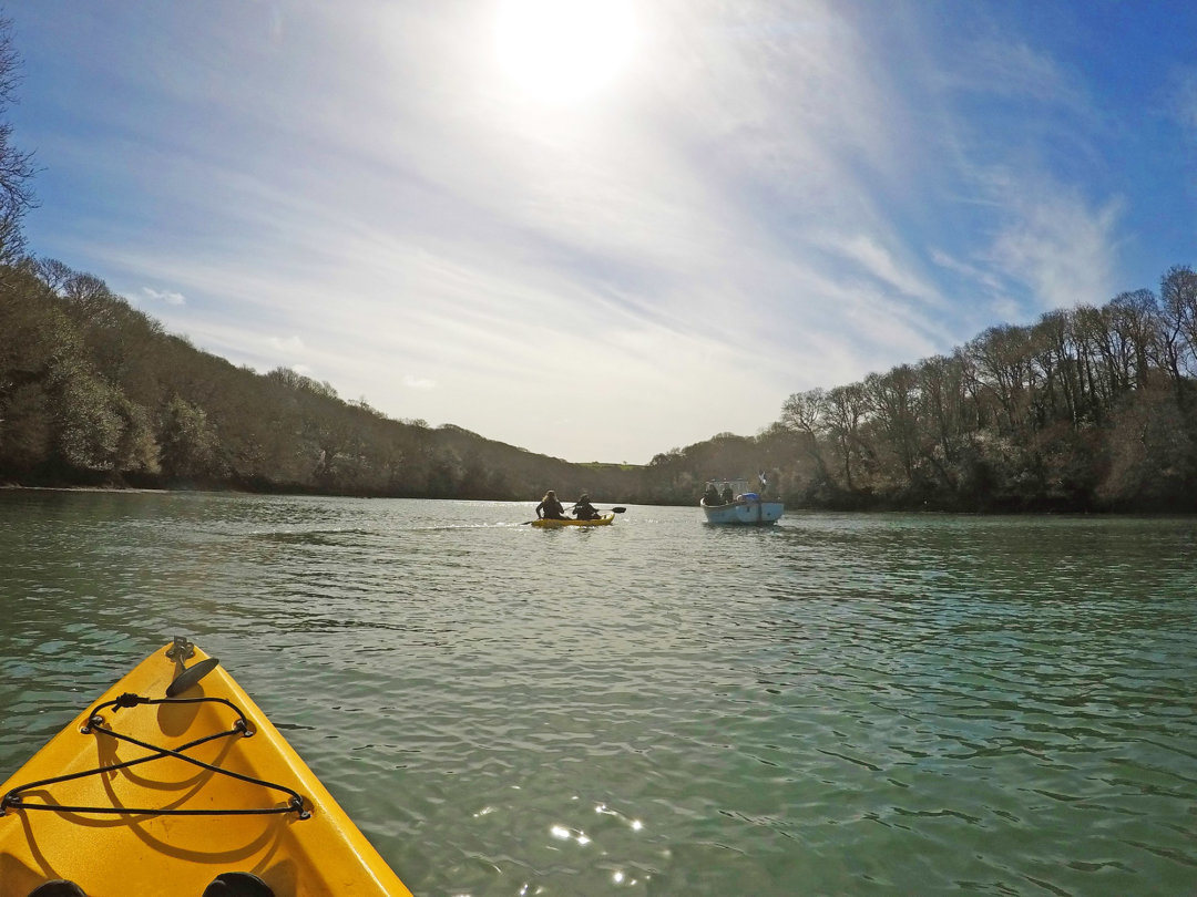 Kayaking on Helford River