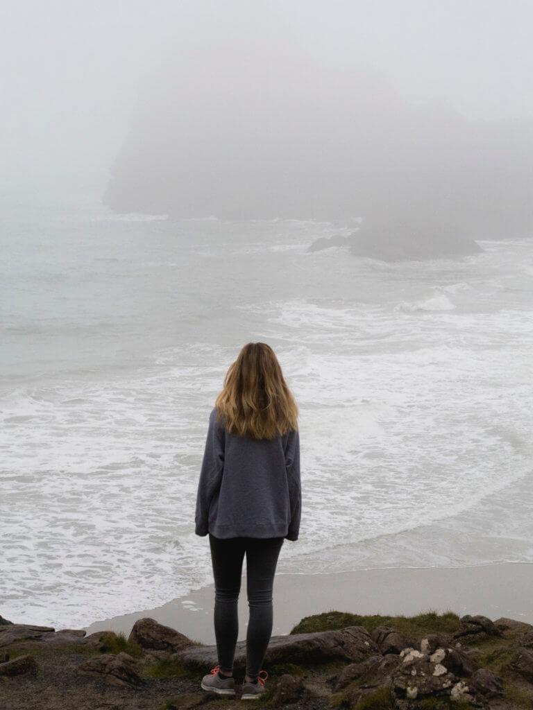 Kynance Cove in Fog
