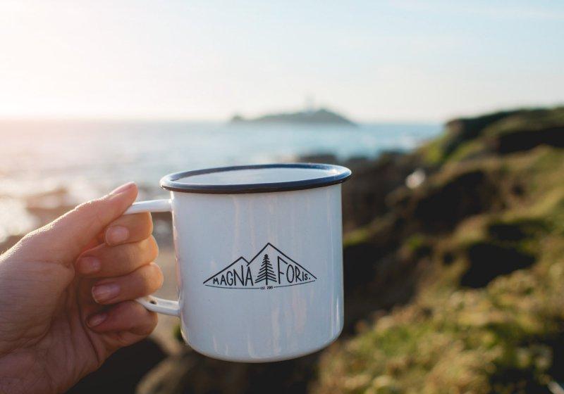 Magna Foris coffee at Godrevy, Cornwall