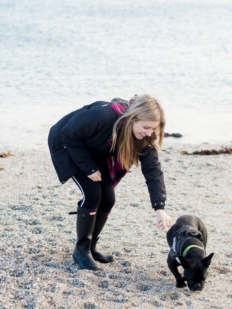 Gylly beach with Olivia