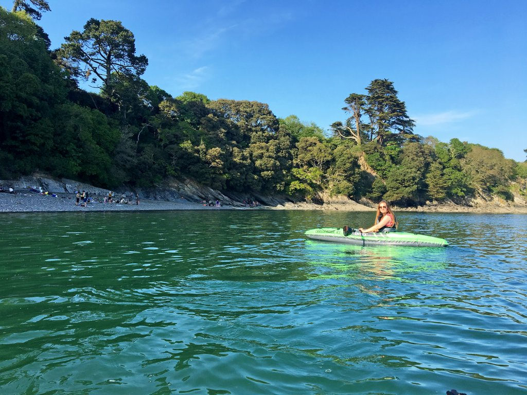 Kayaking at Durgan near Falmouth - great for relaxing in Cornwall