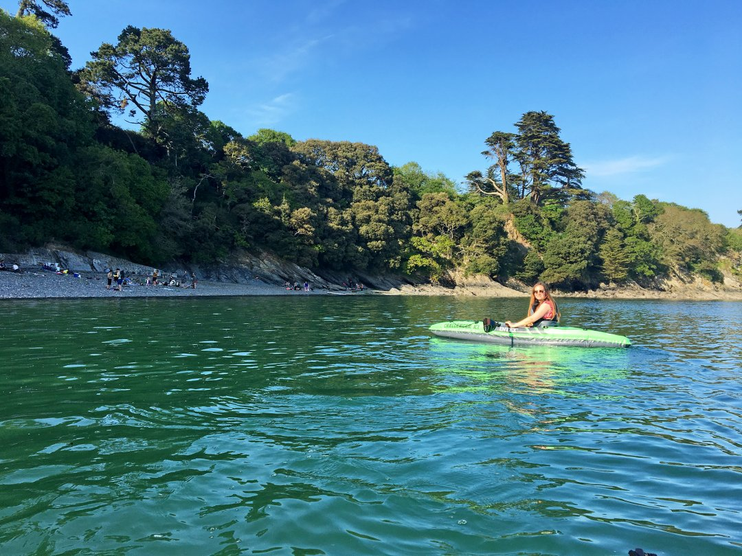 Kayaking at Durgan near Falmouth - great for relaxing in Cornwall