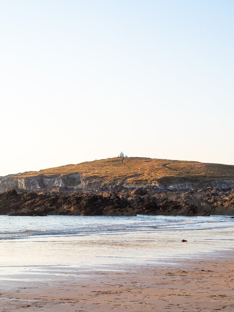 Fistral beach in Newquay at sunset