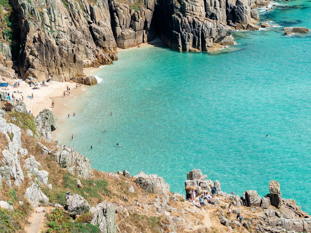 Pedn Vounder Beach in Cornwall