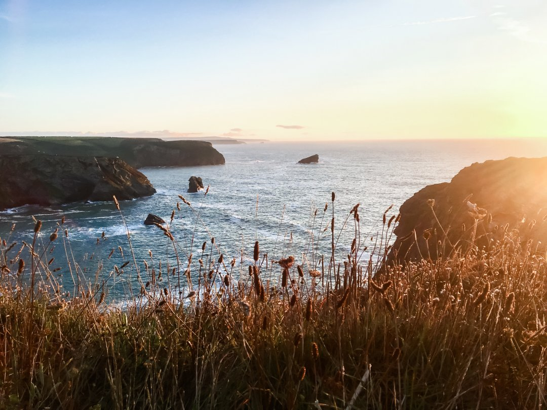 Portreath Cliffs at Sunset