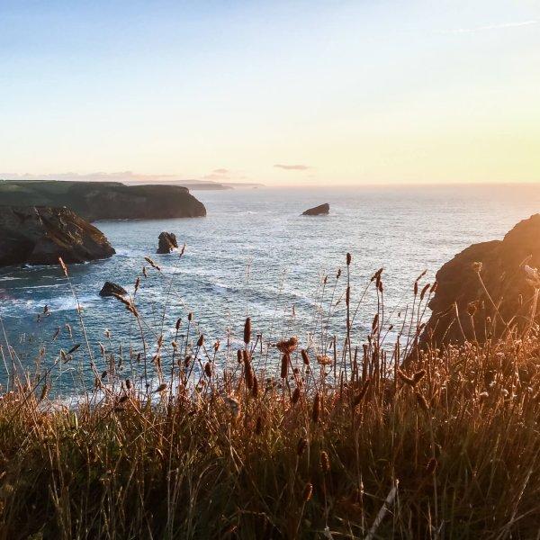 Portreath Cliffs at Sunset