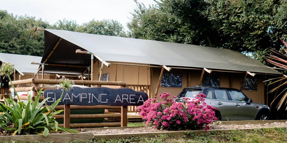 Safari Tent Glamping at Trevella Park in Crantock