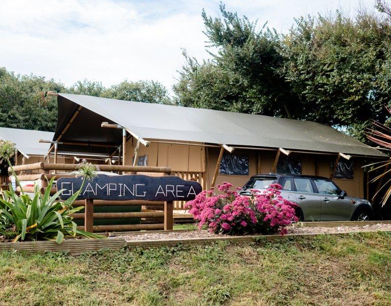 Safari Tent Glamping at Trevella Park in Crantock