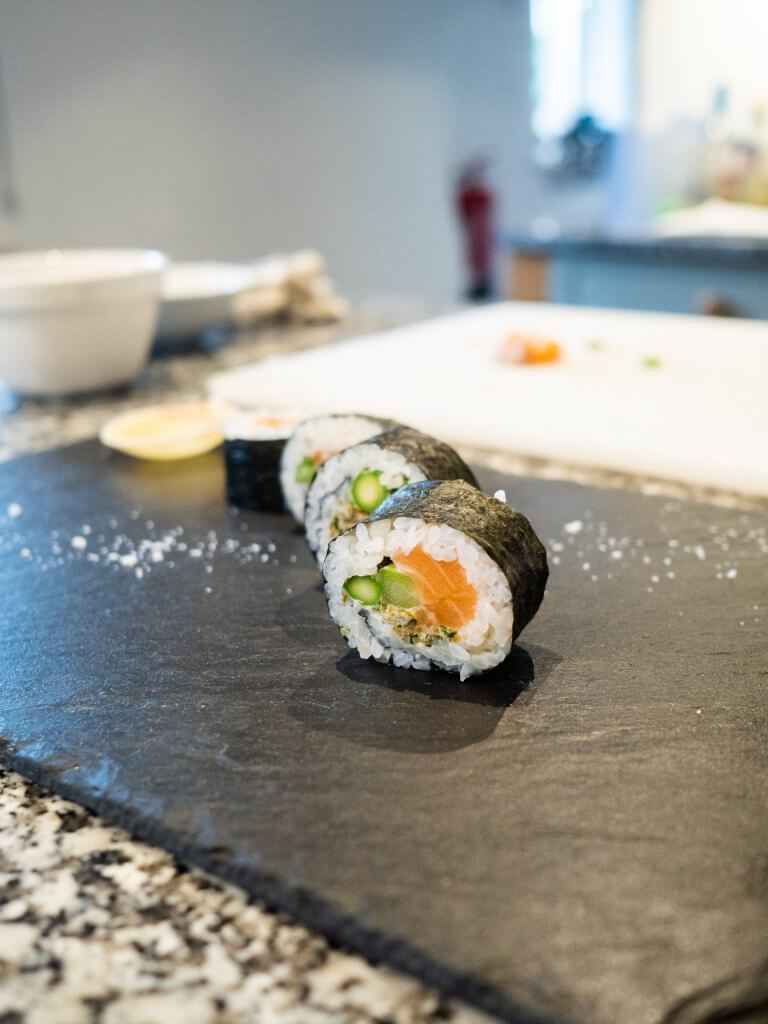 Sushi Making at Philleigh Way Cookery School and Naoko's Kitchen