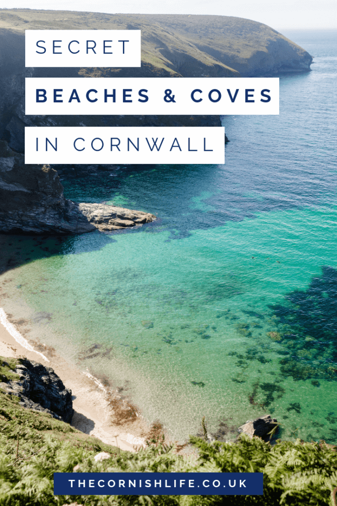 Secret Beaches & Coves in Cornwall | Hidden gems along the Cornish coast path #cornwall #uktravel #beaches #beachinspiration