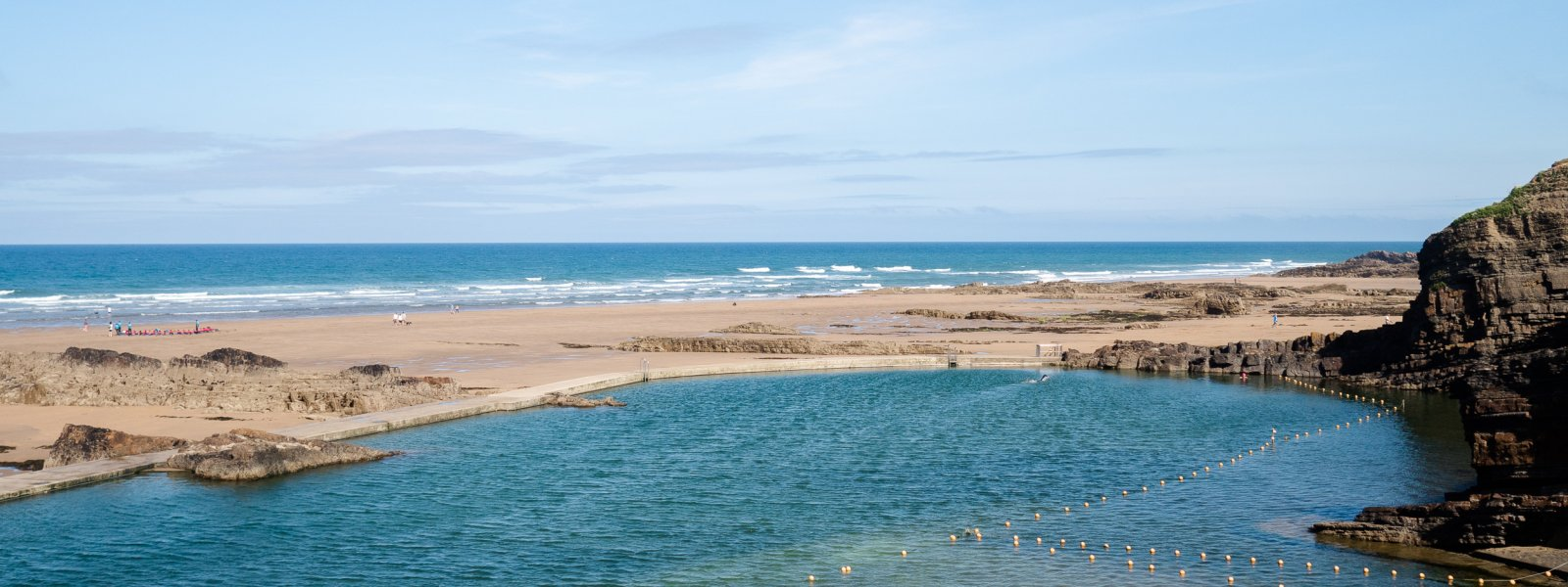 Outdoor Tidal Pools in Cornwall