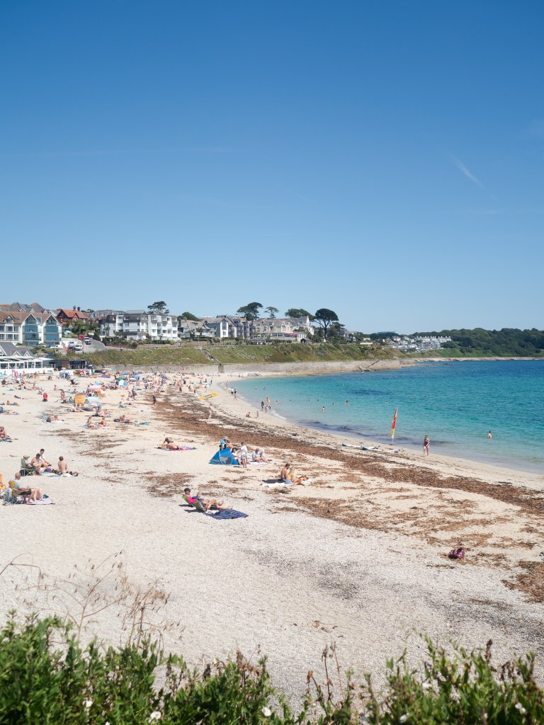 Gylly Beach in Falmouth