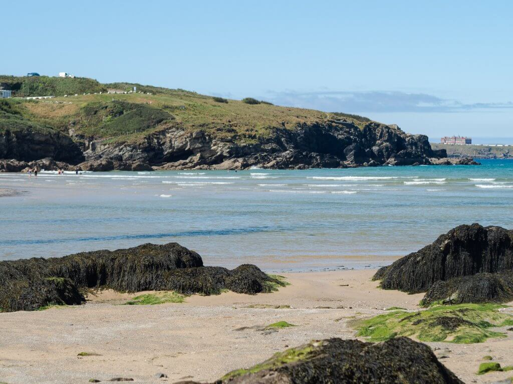 Roos Beach in Porth, Newquay