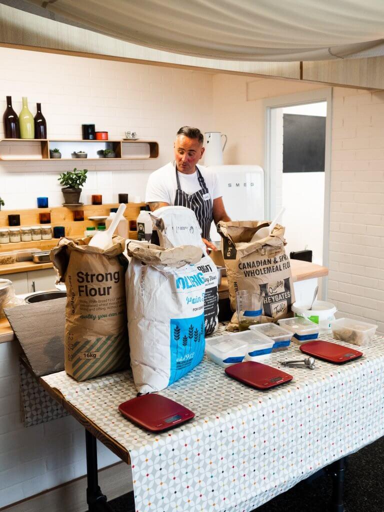 Baking workshop at Bedruthan Hotel