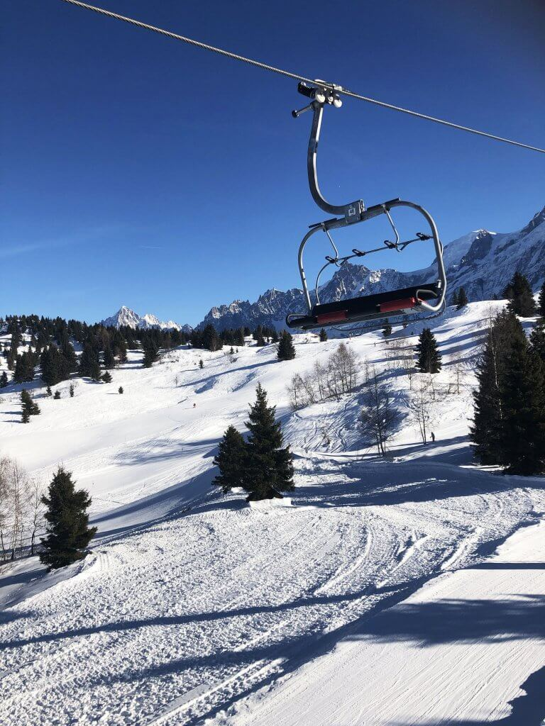 Skiing near Mont Blanc