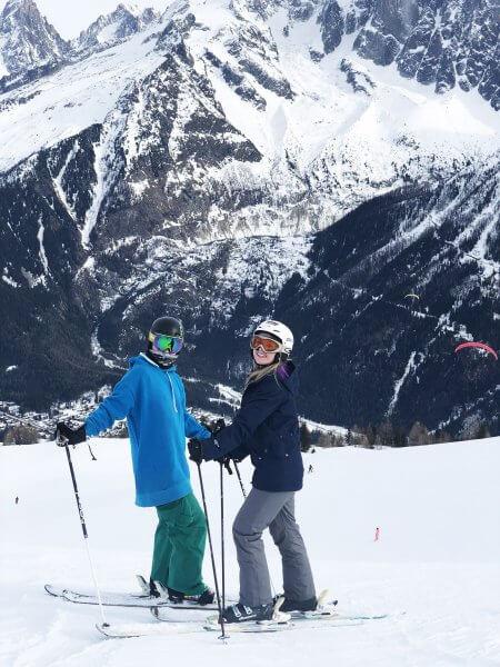 Skiing near Mont Blanc